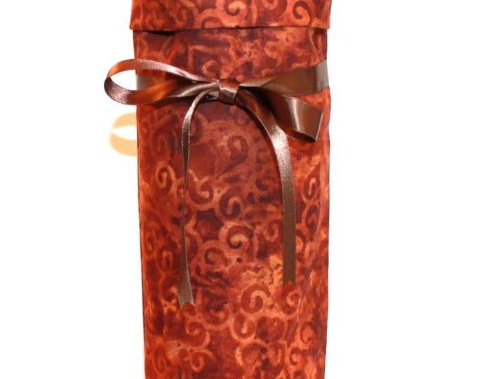 WINE GIFT BAG ~ Rust Scroll ~ Sack ~ Tote ~ Bell Art Designs WB79
