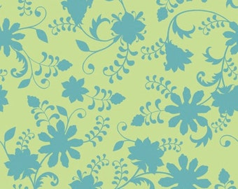 Quilting Treasures - Lydia by Nicole Tamarin Dk Celadon Floral Vine 24630 H - Quilt, Quilting, Clothing, Crafts