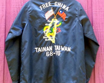 """Vintage 1968 """"Free  China"""" Reversible Tour Jacket"""