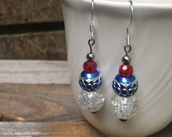 Subtle and Glamorous July 4th Earrings