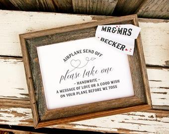 Favor Sign - Printable - DIY Wedding Signage - Airplane Send off Sign