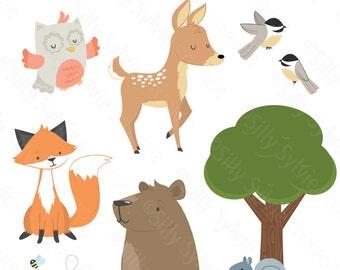 Forest Friends Clip Art