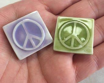 Mosaic Tile Ceramic Peace Sign Symbol Porcelain Your Choice
