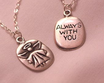 FREE SHPG Angel Always With You Silver Tone Pendant Necklace on Chain