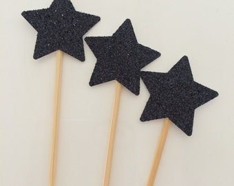 Sparkling Star Cupcake Toppers