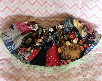 Size 9-18 month vintage fabric kitty skirt