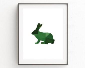 Rabbit Print, Nursery Wall Art, Nursery Animal Print, Nursery Print, Woodland Nursery, Bunny Print, Animal Print, Baby Shower Gift