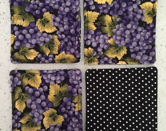 Drink Coasters - Set of 4 - Purple Grapes
