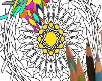 Mandala 004, coloring page