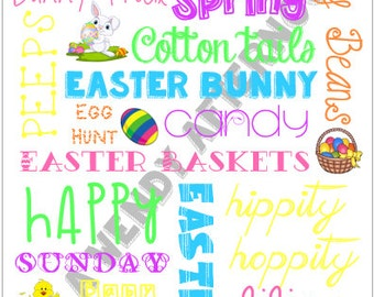 8 x 10 Easter Subway Art - Digital Download - PDF File