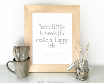 Family Room Print, Happy Life Quote, Home Printable Wall Art, Hand Lettered