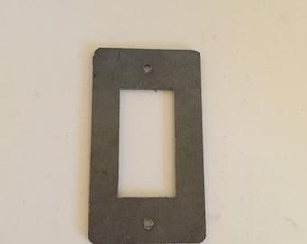 Steel Light Switch Cover / Rocker / Dimmer / Light Switch Plate / Industrial Lighting / Steampunk Lighting / Single / Double / Triple Light