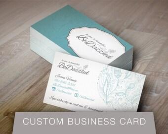 CUSTOM Business Card Design - Unique Custom Business Card Design for any business