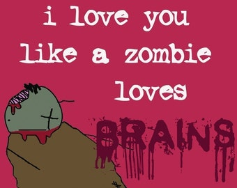 Zombie Love notecard