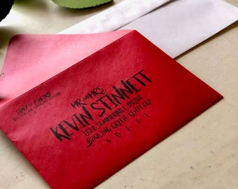 Custom Printed Envelopes - For Weddings or Events - Various Sizes & Colors