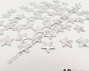 Fusible Star - Silver - 10mm - x 50pcs