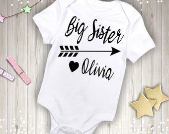 Personalized Big Sister with Name Outfit