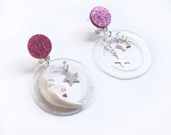 Moon Earrings by LaliBlue