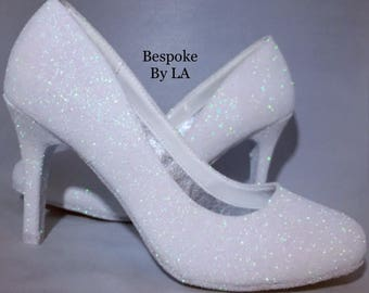 Glitter shoes wedding shoes any colour women's shoes