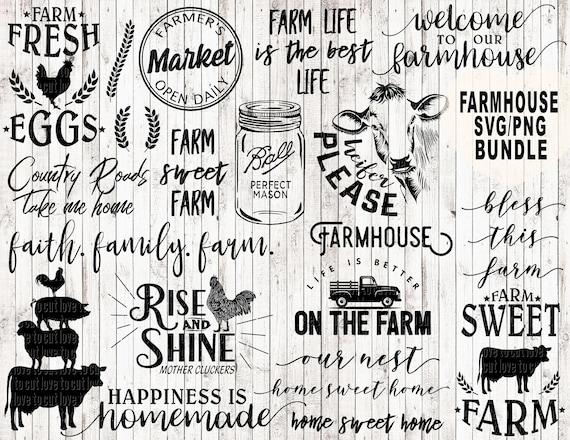 Farm Svg Bundle Farmhouse Svg Bundle Farm Life Svg Farm Svg