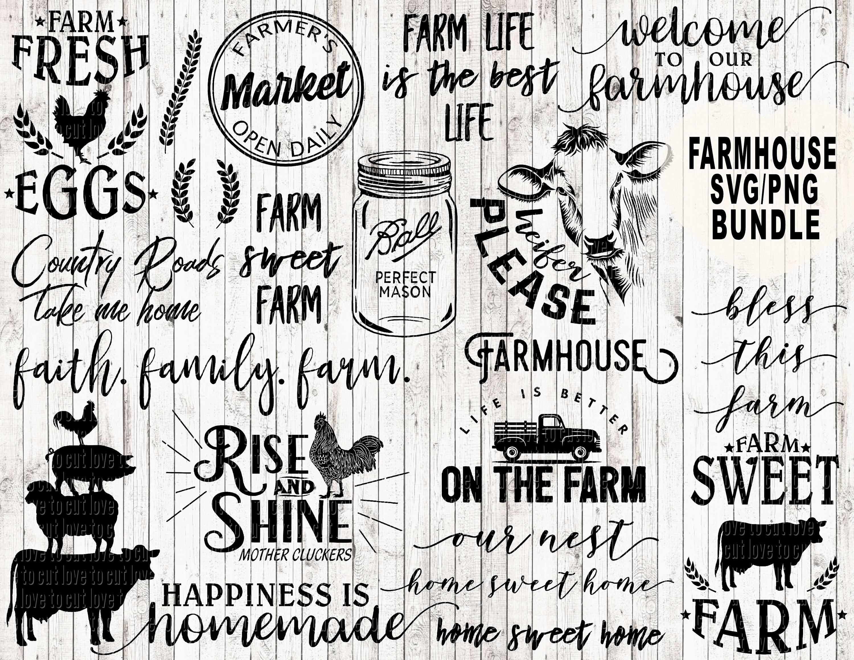 Farm Svg Bundle Farmhouse Life