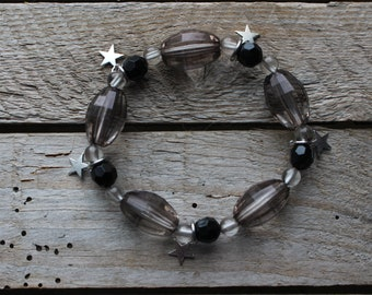 Pretty Bracelet of beads and star charms