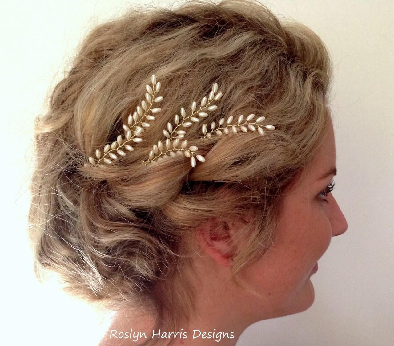 grecian bridal hair pins fern leaf hair pins wedding hair