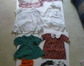 8 Piece Vintage Doll Clothes Lot