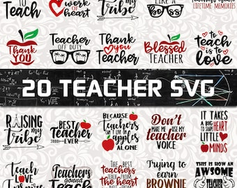 Teacher  SVG Bundle - Teaching SVG - teacherlife SVG - Teacher clip art - Teacher shirt prints - Awsome teacher svg - Best teacher svg