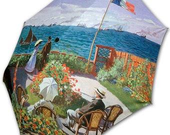 Foldable umbrella - painter MONET: Terrace at Saint address