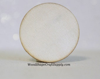 50 - 1-1/2 Inch Wood Circle Coin Blank - Small Wooden Craft Circles for Wood Crafts - Holiday Craft Supplies - 1.5 Inch Wood Disc