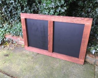 Double chalkboard rustic window menu chalkboard kitchen chalkboard