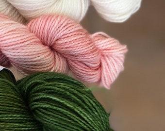 Hand dyed yarn,Mitten/Fingerless Mitt Kit #4,Indie Dyed Yarn,gift for yarn lovers,50 gram Mini Skeins,Mitten/Mitt kit - pattern not included