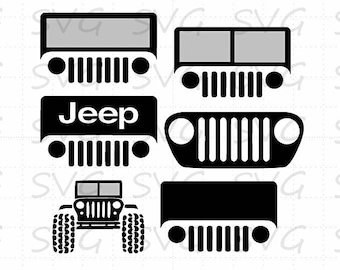 Jeep Bundle svg, dxf, fcm, eps, and png.