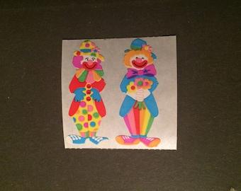 Sandylion vintage rare kromekote clown stickers