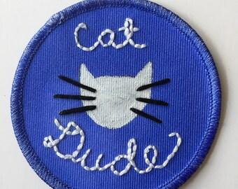 Cat Dude Patch (Blue)