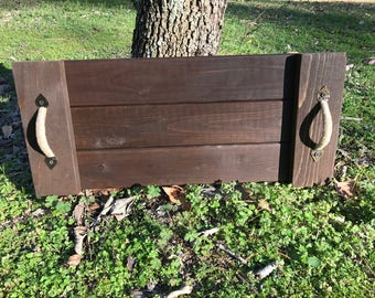 Rustic Serving Tray with twine wrapped handles