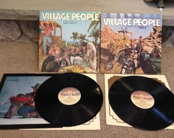 Village People YMCA and Go West LPS , Vg condition