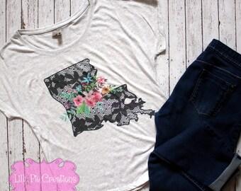Louisiana Shirt for Women, Louisiana Home Shirt, Louisiana Women's Shirt, Louisiana Tank Top, Gift for Mom, Louisiana Tshirt