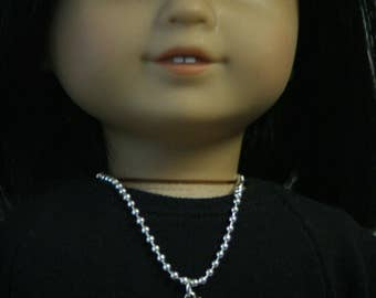 Pumpkin Necklace, Made to Fit American Girl Doll, 18 inch Doll Jewelry, Doll Jewelry, 18 Inch Doll Necklace