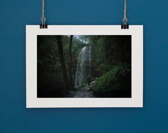 "Henrhyd Waterfall Brecon Beacons. Landscape Photography Wales. Custom sizes up to 9.3""x14"""