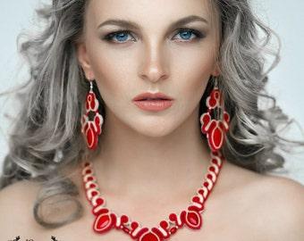 necklaces earrings soutache