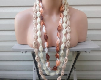 Buy 2 Get 1 Free, Bubble Necklace, Crochet Necklace, Women's Gift, Teen Gift, Necklace, Lariat Scarf