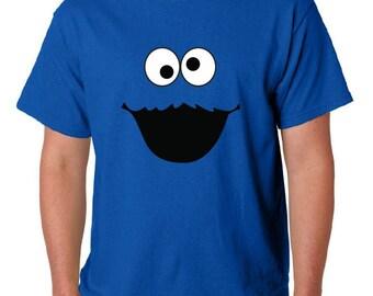 Cookie Monster Shirt - sesame street shirt - Mens Cotton Shirt - Cool Gift -