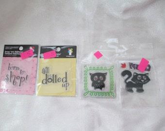 Snag'em Clear Rubber Stamps Set Of 4, Snag'em Stamps, Imaginisce, Lot 6