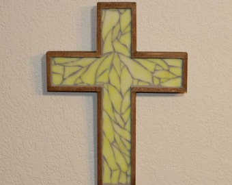 Baptism Gift / Mosaic Wall Cross / Stained Glass Cross / Religious Gift / Mother's Day Gift / First Communion Gift / Wall Cross
