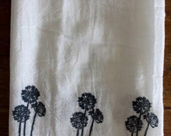Tea Towel | Dandelion Tea Towel | Dish Towel | Flour Sack Towel