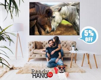 Horse canvas, Horse wall art, Horse print, Horse art, Pony canvas, Pony wall art, Animals canvas, Aimals wall art, Horse canvas print, Horse