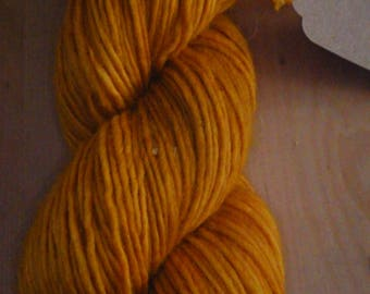 Cuddly soft merino wool, hand dyed with locust wood