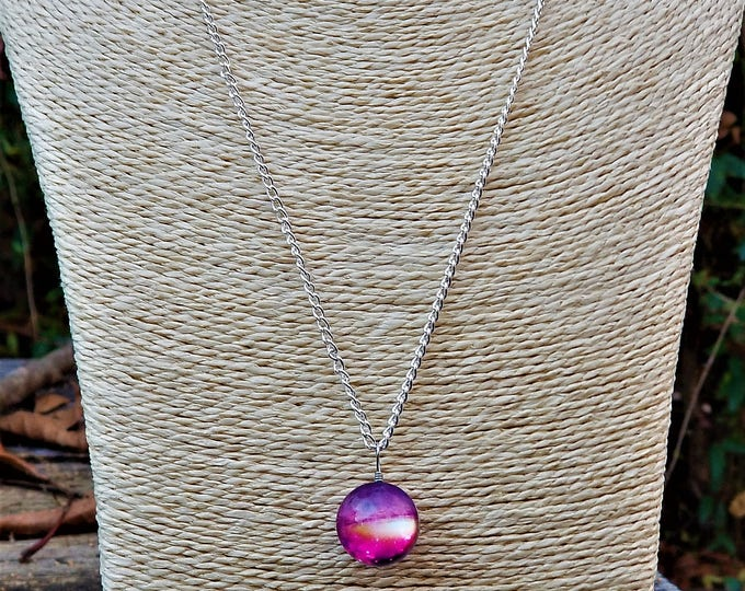 ONLY ONE AVAILABLE: I'd Pull Down the Stars For You Necklace (Pink, Purple & Orange)